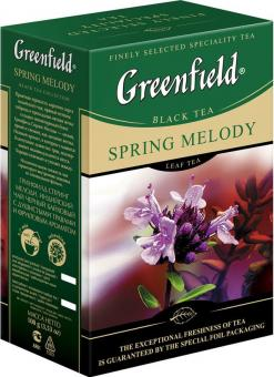 GREENFIELD black Tee SPRING MELODY 100g